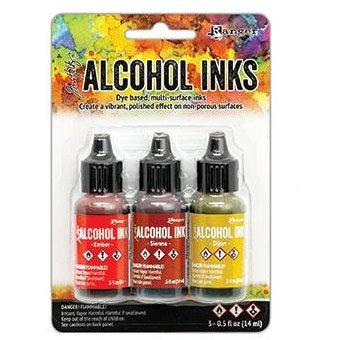 Tim Holtz Alcohol Ink Set of 3 - Orange/Yellow Spectrum (new colors!)