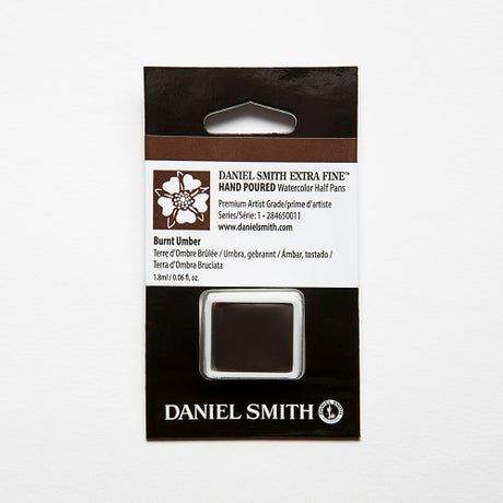 Daniel Smith Extra Fine Watercolor Half Pan - Burnt Umber