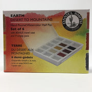 Daniel Smith Extra Fine Watercolor 6 Half Pan Set - Earth Tones packaging