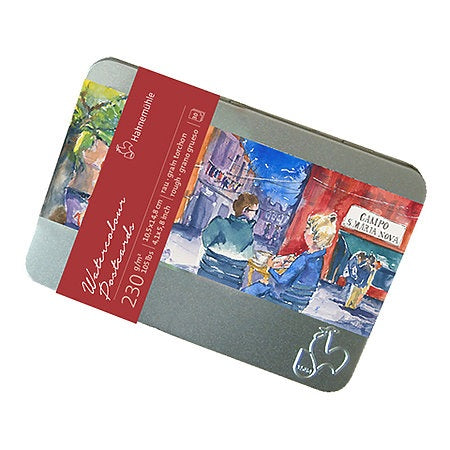 "Hahnemuehle Watercolor Postcard Tin 4.1"" x 5.8"" Cold-Pressed"