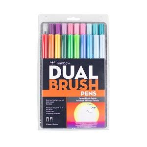 Tombow Dual Brush Marker Set of 20 - Perfect Blends Palette