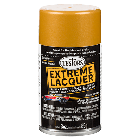Testors Extreme (one coat) Spray Lacquer 3 oz - Pure Gold (ORM-D)