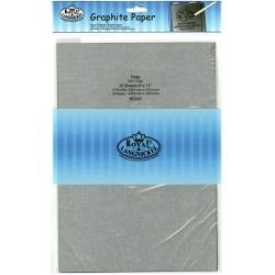 "Royal Langnickel Graphite Paper - Grey - 9"" x 13"" - 20 Sheets"