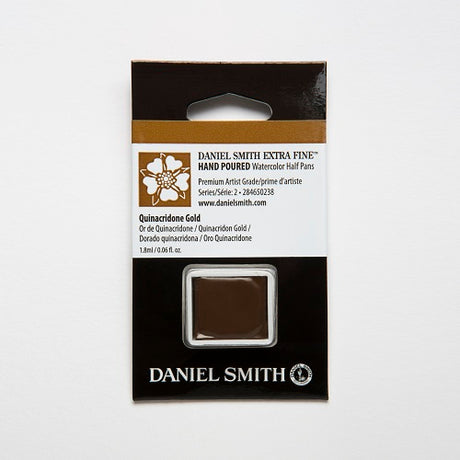 Daniel Smith Extra Fine Watercolor Half Pan - Quinacridone Gold