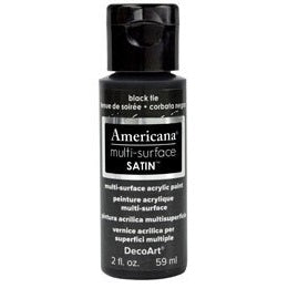 DecoArt Americana Multi-Surface 2oz - Black Tie