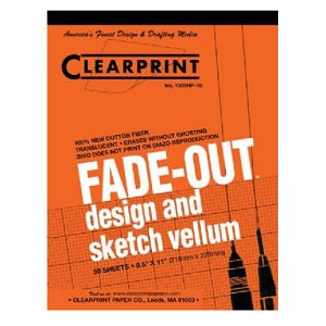 Clearprint Fade-Out Vellum Pad - Gridded 10 sq per inch 8.5X11