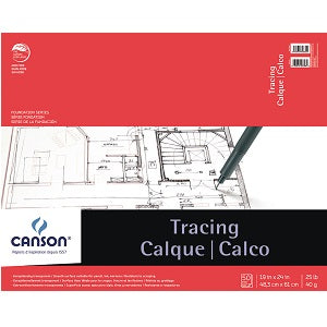 Canson Tracing Pad 25 lb - 50 Sheets 19X24