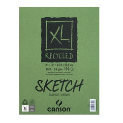 Canson XL Recycled Tape-bound Sketch Pad 9X12