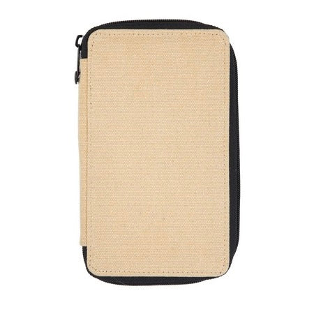 Global Art Canvas Pencil Case 48 Capacity - Wheat