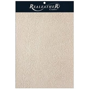 "Realeather Crafts Acanthus Natural Trim Piece 8""X11"""