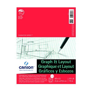 Canson Graph & Layout Paper Pad - 8 sq per inch 8.5X11