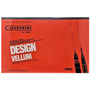 Clearprint Design Vellum Unprinted 16 lb - 11X17 Pad