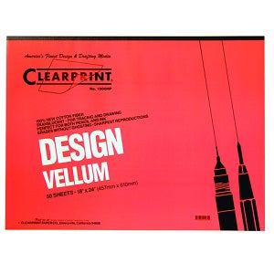 Clearprint Design Vellum Unprinted 16 lb - 18X24 Pad
