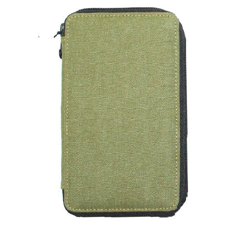 Global Art Canvas Pencil Case 48 Capacity - Olive