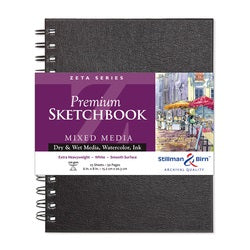 "Stillman & Birn Zeta Wirebound Sketchbook  6"" x 8"""