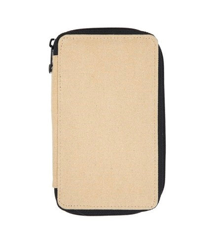 Global Art Canvas Pencil Case 24 Capacity - Wheat