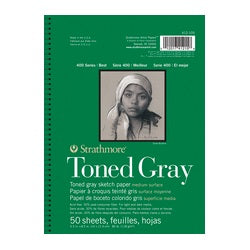 "Strathmore 400 Series Toned Sketch Pad - Gray 5.5"" X 8.5"""