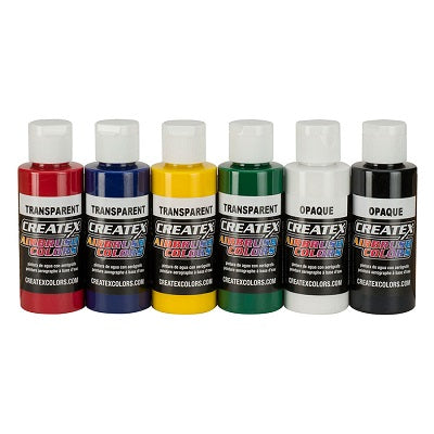 Createx Airbrush Colors  Set of 6 Primary colors