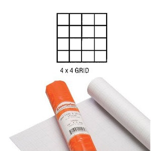 Clearprint Design Vellum Fade-out 4X4 Grid 24 inch X 5 yard roll