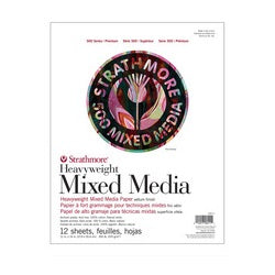 Strathmore 500 Series Heavyweight Mixed Media Pad 350 Lb, 12 Sheets 11x14