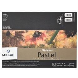 Canson Mi-Teintes Paper Pad - 24 sheets Assorted Earth Tones 12x16