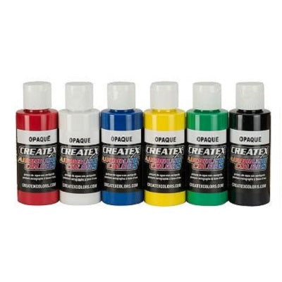 Createx Airbrush Colors  Set of 6 Opaque colors