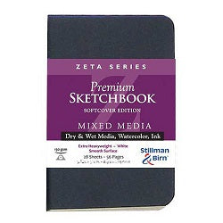 Stillman & Birn Zeta Softcover Sketchbook  Portrait 3.5X5.5