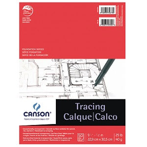 Canson Tracing Pad 25 lb - 50 Sheets  11X14