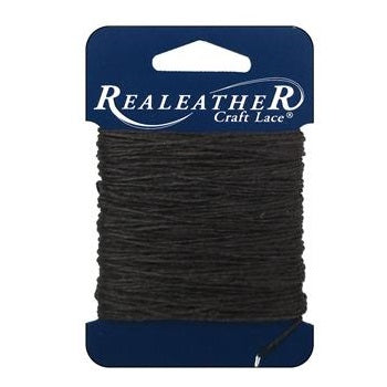 Realethyer Waxed Thread for leather crafting - 25 yards Brown