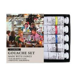 M. Graham 5 Color Primary Gouache Set