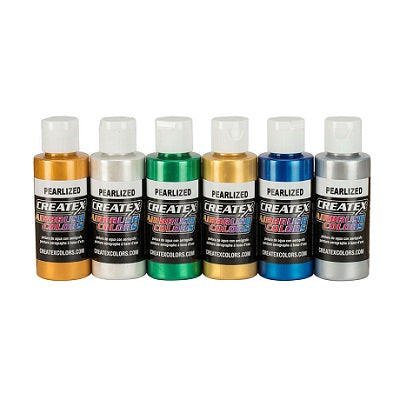 Createx Airbrush Colors  Set of 6 Pearlescent colors