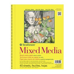 Strathmore Vision Mixed Media 5.5x8.5 In Pad Wire Bound Medium Surface 70 Sheets