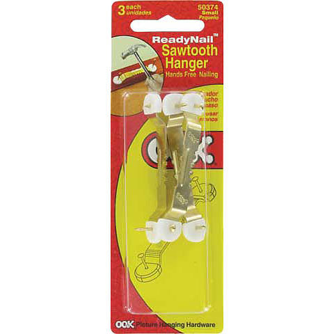 OOK ReadyNail Saw Tooth Hangers - Small - 3 pack