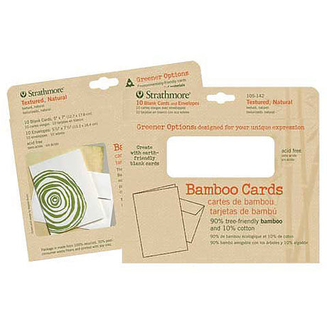 "Strathmore Bamboo Cards with Envelopes 5"" X 6.875"" 10 Pack"