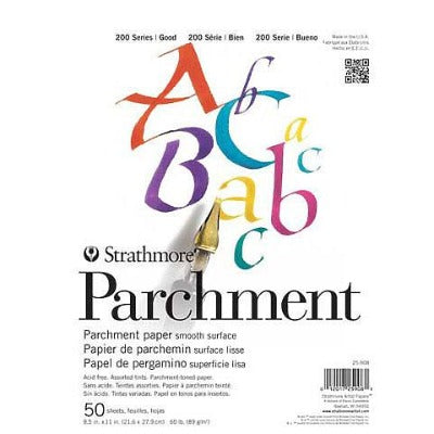"Strathmore 200 Series Parchment Paper - Assorted Colors - 8.5""X 11"" Pad (50 Sheets)"