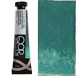 Golden QoR Watercolor 11 ml - Viridian Green  (Prop 65 WARNING!)