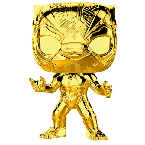 Funko Pop! Marvel Studios: MS 10 - Black Panther | Gold Chrome | Coming Soon | tysolutionsusa.com