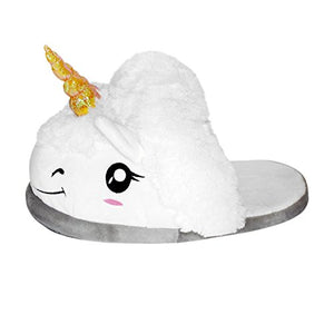 Close Up Thinkgeek Plush Unicorn Slippers, One Size, White