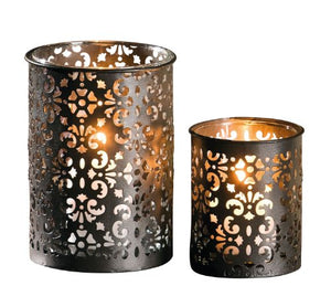"Metall-Windlicht Paisley"", 2er Set"