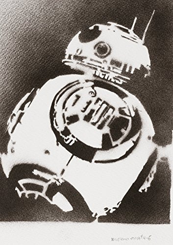 BB8 STAR WARS Handmade Street Art - Artwork - Poster