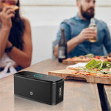 DOSS Soundbox Portable Wireless Bluetooth V4.0 Lautsprecher Subbass Leistungsstarker 12 Watt mit Touch Sensible [Schwarz]