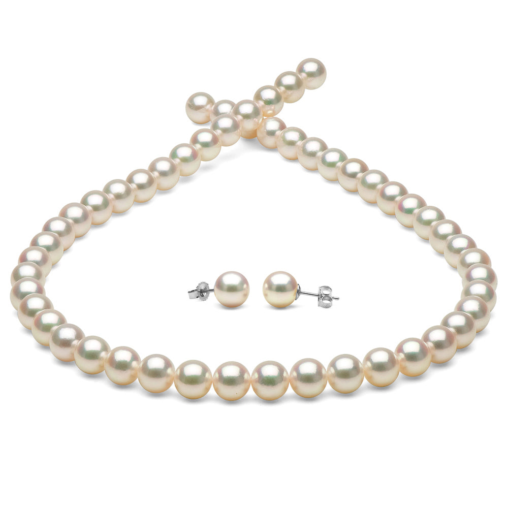 Hanadama Akoya Pearl Jewelry Set 7.5-8.0mm