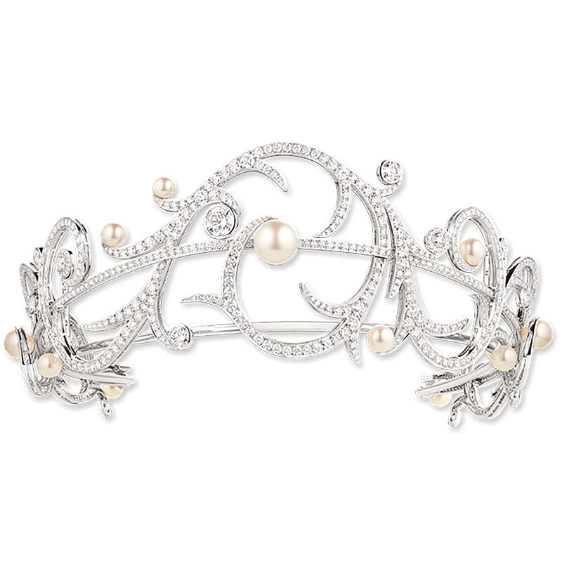 Akoya Pearl and Diamond Tiara by Chaumet