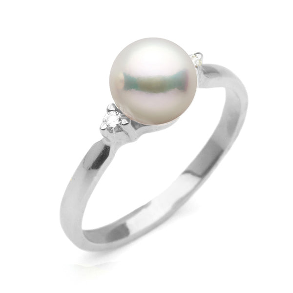 Featured Product Spotlight: Akoya Pearl and Diamond Sweetheart Ring