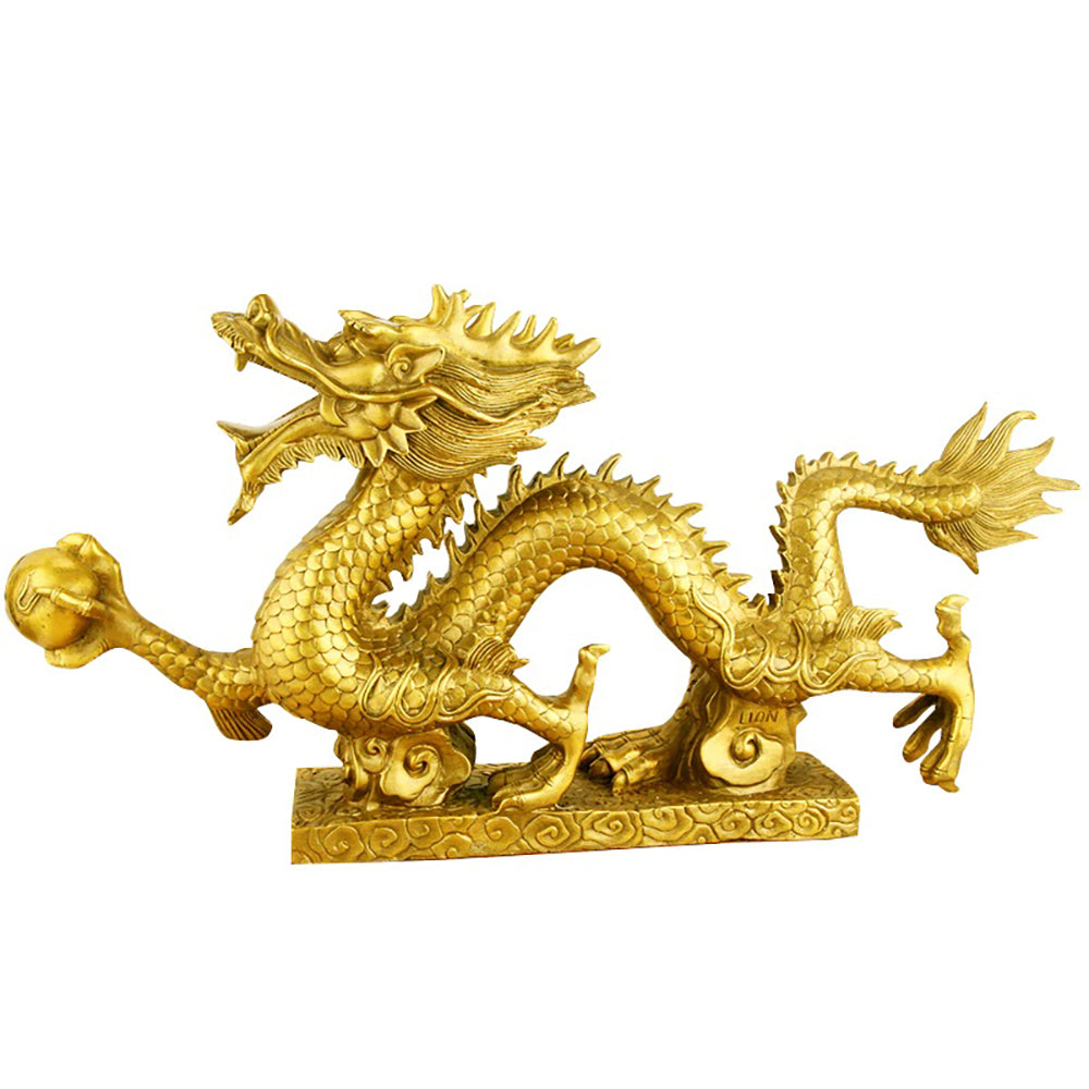 Golden Dragon with Lucky Golden Pearls
