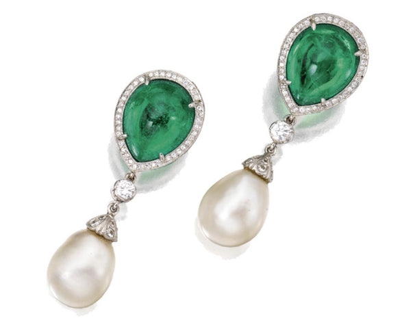 Pearl Emerald Earrings Fred Leighton
