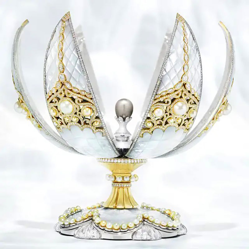 Faberge Pearl Egg Opened