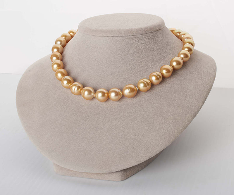 Product Spotlight: Deep Golden South Sea Baroque Pearl Necklace