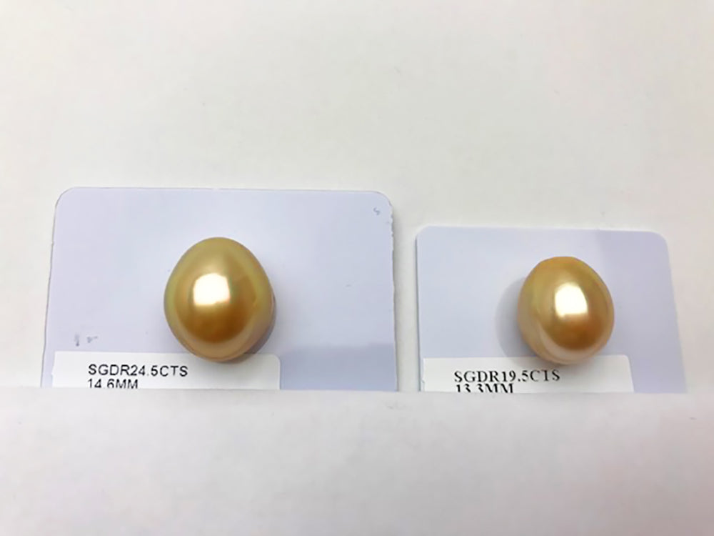 Golden South Sea Pearl Drops - Very Large Custom Choice
