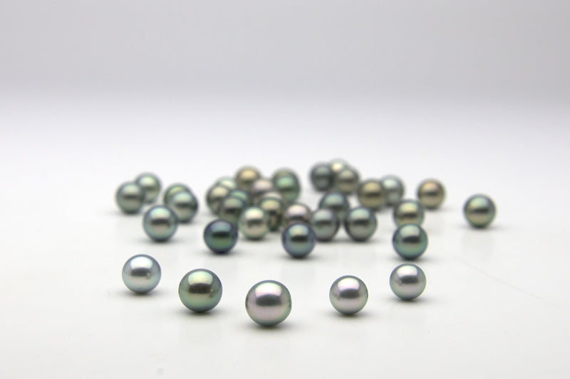Blue, Blue-Green and Silvery-Blue Loose Tahitian Pearls